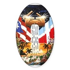 NEW!!! PUERTO RICAN PRIDE Oval Decal
