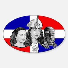 NEW!!! MI RAZA DOMINICAN Oval Decal