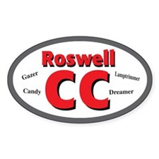 Roswell Fanfiction Oval Decal
