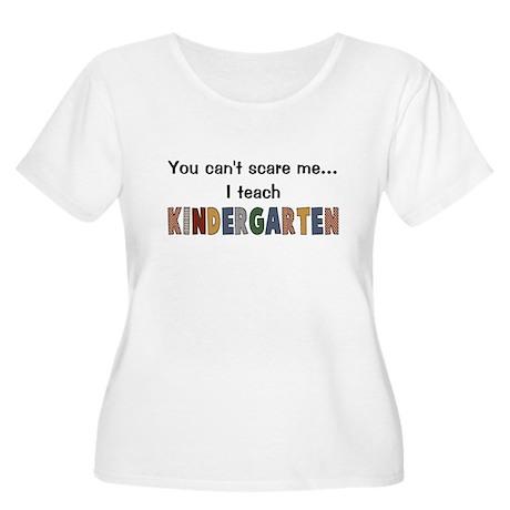 Teach Kindergarten Women's Plus Size Scoop Neck T-