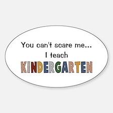 Teach Kindergarten Oval Decal