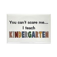 Teach Kindergarten Rectangle Magnet