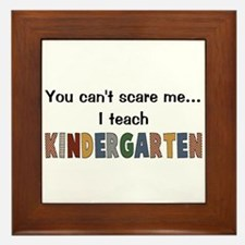 Teach Kindergarten Framed Tile