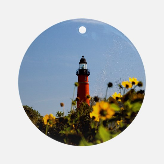 Ponce Inlet Lighthouse Ornament (Round)