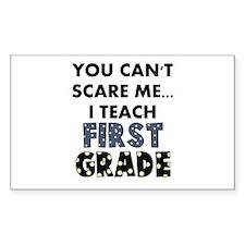 1st Grade Teacher Rectangle Decal