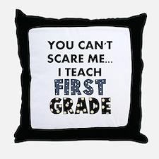 1st Grade Teacher Throw Pillow