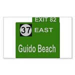 Parkway Exit 82 Rectangle Sticker 10 pk)