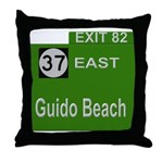 Parkway Exit 82 Throw Pillow