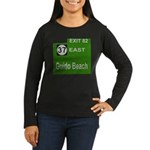 Parkway Exit 82 Women's Long Sleeve Dark T-Shirt