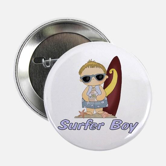 """Surfer Boy 2.25"""" Button"""