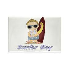 Surfer Boy Rectangle Magnet