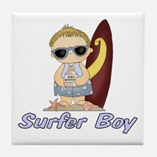 Surfer Boy Tile Coaster