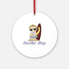 Surfer Boy Ornament (Round)