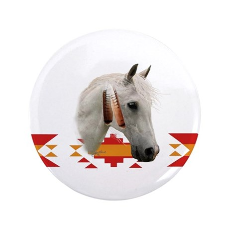 "Indian Pony 3.5"" Button (100 pack)"