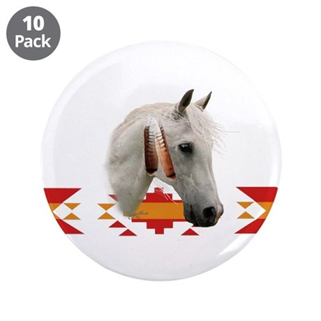 "Indian Pony 3.5"" Button (10 pack)"