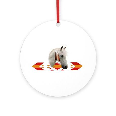 Indian Pony Ornament (Round)