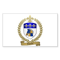VOTOUR Family Crest Rectangle Decal