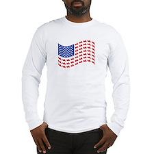 Goldwing Motorcycle Flag Tee Long Sleeve T-Shirt