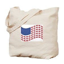 Goldwing Motorcycle Flag Tee Tote Bag