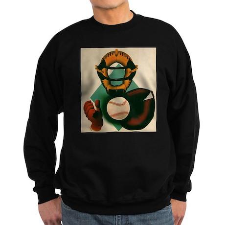 Vintage Sports Baseball Catcher Sweatshirt (dark)