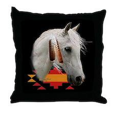Indian Pony Throw Pillow