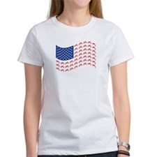 Motocross Bike patriotic Flag Tee