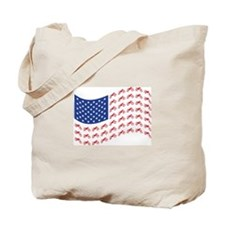 Motocross Bike patriotic Flag Tote Bag