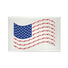 Chopper Motorcycle Flag Rectangle Magnet