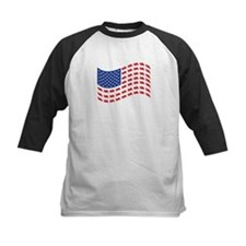 Cruiser Motorcycle Patriotic Flag Tee