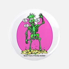 """Funny Friendly Zombie 3.5"""" Button"""