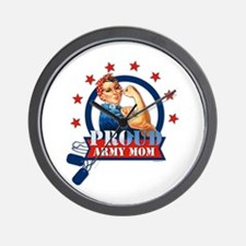 Rosie Proud Army Mom Wall Clock