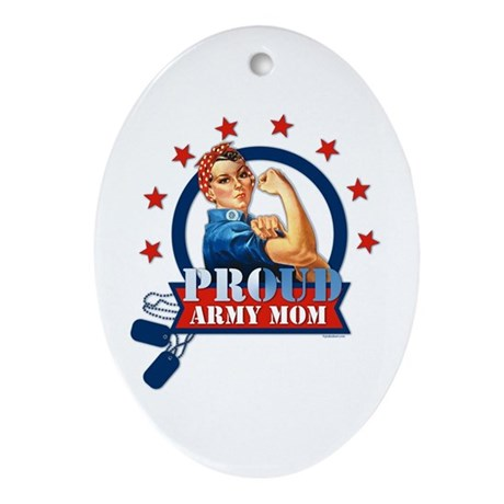 Rosie Proud Army Mom Ornament (Oval)