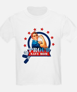 Rosie Proud Navy Mom T-Shirt