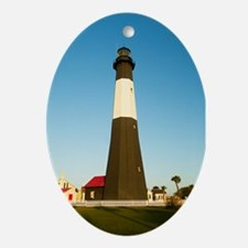 Tybee Island Lighthouse Oval Ornament