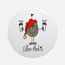 Coffee-Aholic Ornament (Round)