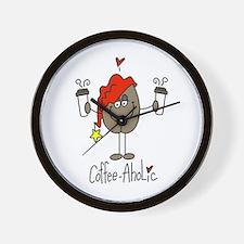 Coffee-Aholic Wall Clock