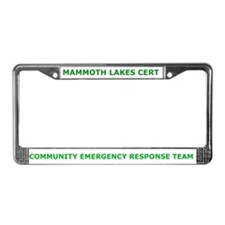 Mammoth Lakes CERT License Plate Frame