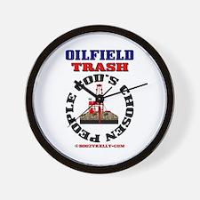 Oil field Trash God's Chosen Wall Clock,Oil Rig