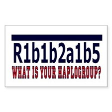 WHAT'S YOUR HAPLOGROUP? Rectangle Sticker 50 pk)