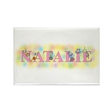 """""""Natalie"""" with Mice Rectangle Magnet"""