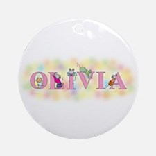 """""""Olivia"""" with Mice Ornament (Round)"""