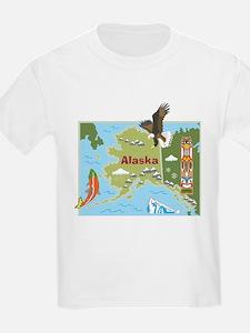 Alaska Map T-Shirt