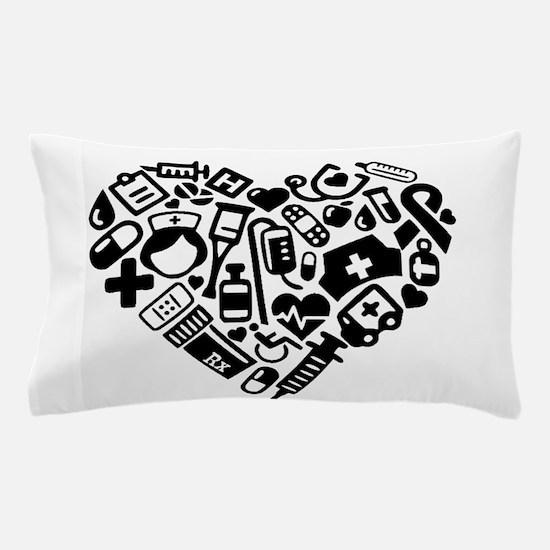 Nurse Heart Pillow Case