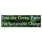 Green Party Sustainable Change bumper sticker