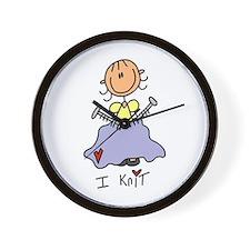 I Knit Wall Clock