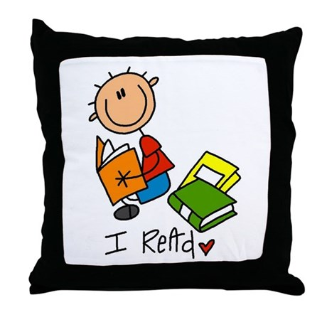 I Read Throw Pillow