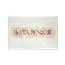 """Savannah"" with Mice Rectangle Magnet"