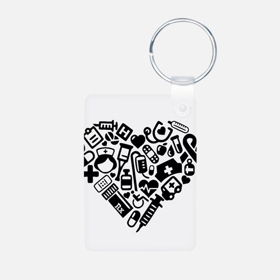 Nurse Heart Keychains