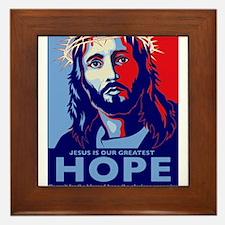 Jesus Our greatest Hope Framed Tile