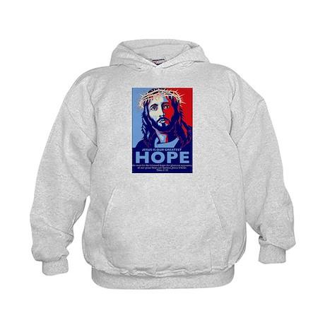 Jesus Our greatest Hope Kids Hoodie